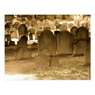 Cementerio de Boston Tarjeta Postal