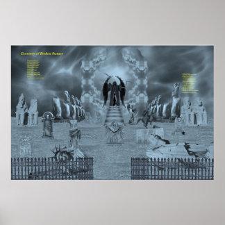 Cementerio de estatuas quebradas póster
