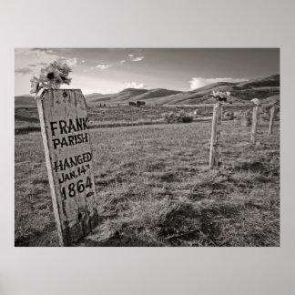 Cementerio de la colina de la bota del pueblo fant posters