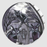 Cementerio de la Luna Llena de los gatos negros Pegatinas