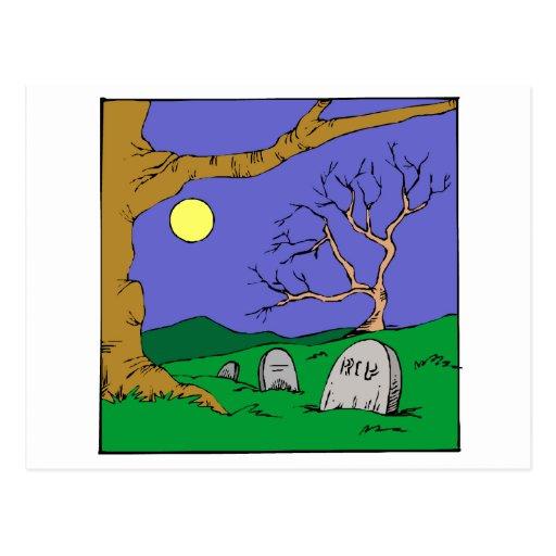 Cementerio de la noche postales
