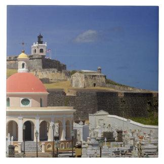 Cementerio de la playa de Puerto Rico Azulejo Cuadrado Grande