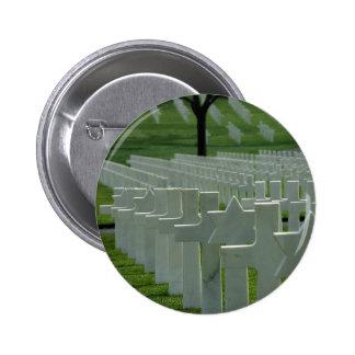 Cementerio de la Segunda Guerra Mundial, Memorial  Pin Redondo De 2 Pulgadas