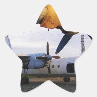 Cementerio de los aviones en el este pegatina en forma de estrella