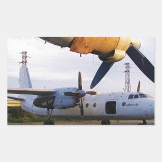 Cementerio de los aviones en el este pegatina rectangular
