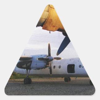 Cementerio de los aviones en el este pegatina triangular