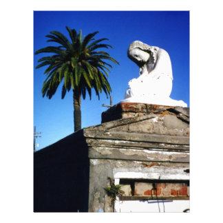 Cementerio de New Orleans del niño que llora del á Plantillas De Membrete