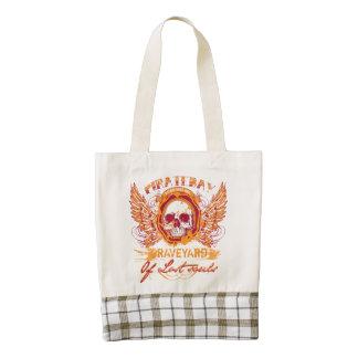 Cementerio de PirateBay de la mochila perdida de Bolsa Tote Zazzle HEART