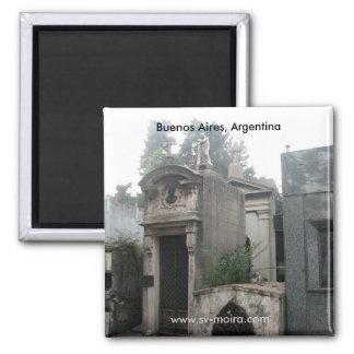 Cementerio de Recoleta, Buenos Aires, la Argentina Imán Cuadrado