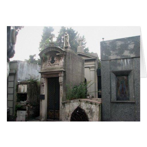 Cementerio de Recoleta, Buenos Aires, la Argentina Tarjeta De Felicitación