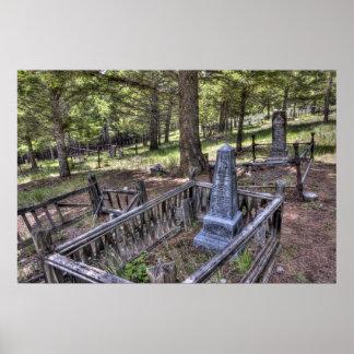 Cementerio del pueblo fantasma de Elkhorn - Montan Impresiones