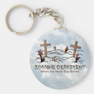 Cementerio del zombi - básico llavero redondo tipo pin