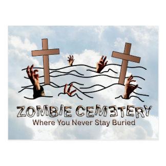 Cementerio del zombi - básico tarjeta postal