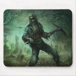 Cementerio del zombi, cojín de ratón tapetes de ratones