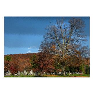 Cementerio en el ATC del otoño Tarjetas De Visita Grandes