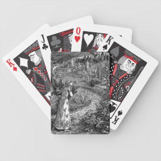 Cementerio en los naipes de la noche baraja cartas de poker