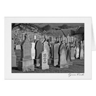 Cementerio escocés tarjeta de felicitación