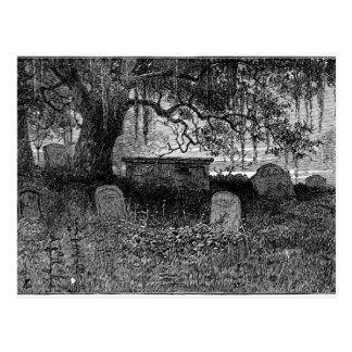 Cementerio fantasmagórico de Halloween Tarjeta Postal