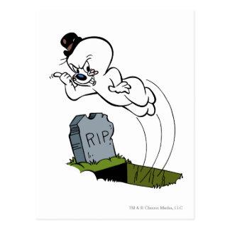 Cementerio fantasmagórico tarjeta postal