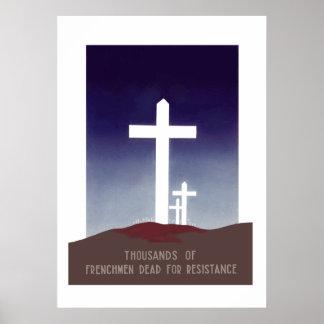 Cementerio francés de la resistencia poster