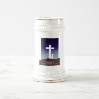 Cementerio francés de la resistencia taza de café