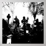 Cementerio gótico espeluznante posters