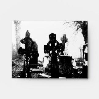 Cementerio gótico espeluznante sobres