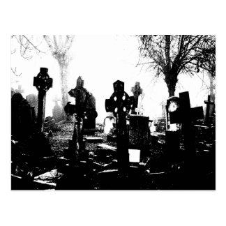 Cementerio gótico espeluznante tarjetas postales