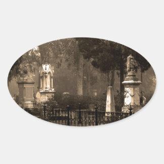 Cementerio histórico de Bonaventure Pegatina Ovalada