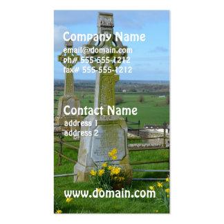 Cementerio irlandés tarjetas de visita