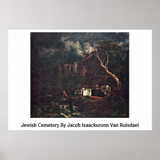 Cementerio judío de Jacob Isaackszoon Van Ruisdael Póster