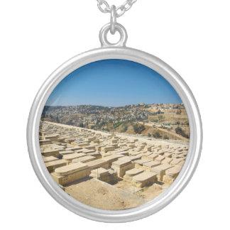 Cementerio judío Jerusalén Israel del monte de los Collar Plateado