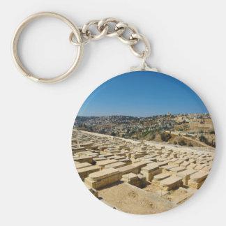 Cementerio judío Jerusalén Israel del monte de los Llaveros Personalizados