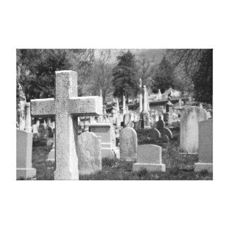 cementerio impresiones en lienzo estiradas