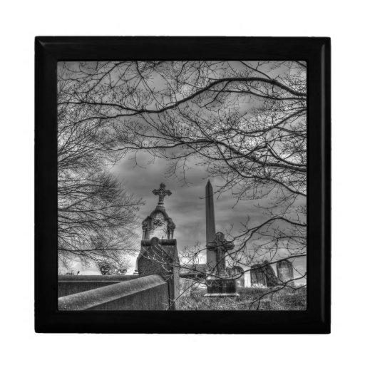 cementerio misterioso joyero cuadrado grande