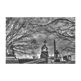 cementerio misterioso lona envuelta para galerias