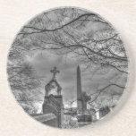 cementerio misterioso posavasos diseño
