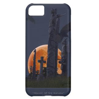 Cementerio místico del cuervo, de la luna y del gó funda para iPhone 5C