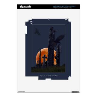 Cementerio místico del cuervo, de la luna y del gó iPad 3 pegatina skin