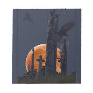 Cementerio místico del cuervo, de la luna y del gó libreta para notas
