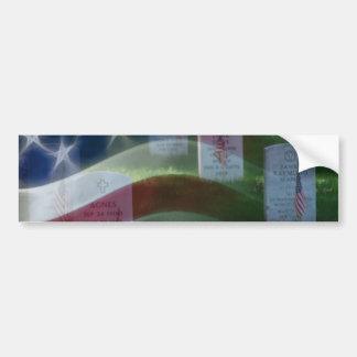 Cementerio nacional de Arlington bandera american Etiqueta De Parachoque