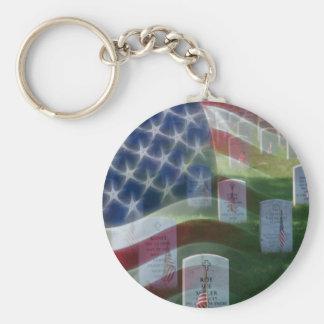 Cementerio nacional de Arlington, bandera american Llavero Redondo Tipo Pin