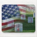 Cementerio nacional de Arlington, bandera american Alfombrilla De Ratones