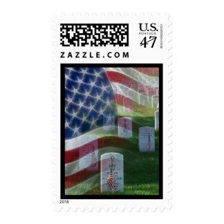 Cementerio nacional de Arlington, bandera Estampilla