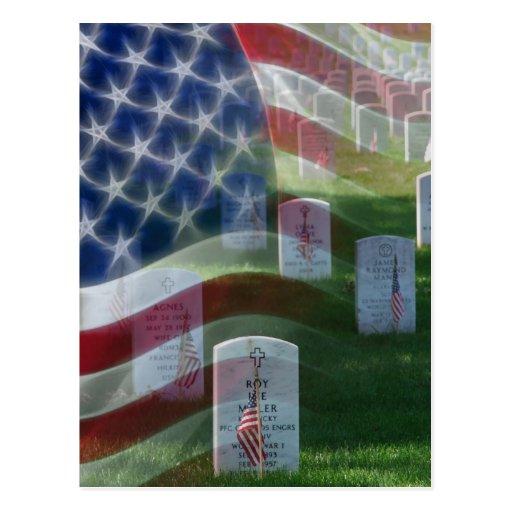 Cementerio nacional de Arlington, bandera Postales