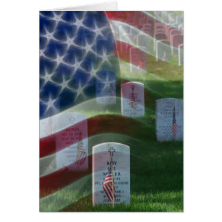 Cementerio nacional de Arlington, bandera Tarjeta De Felicitación