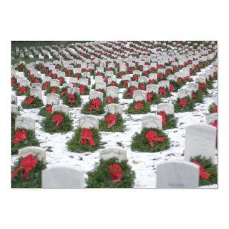 """Cementerio nacional de Arlington de la nieve de Invitación 5"""" X 7"""""""