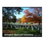 Cementerio nacional de Arlington en postal del oto