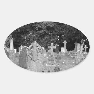 Cementerio Pegatina Ovalada