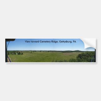 Cementerio Ridge, pegatina para el parachoques de  Pegatina Para Auto
